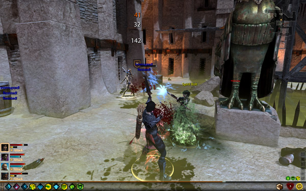 Combat in DRAGON AGE II.