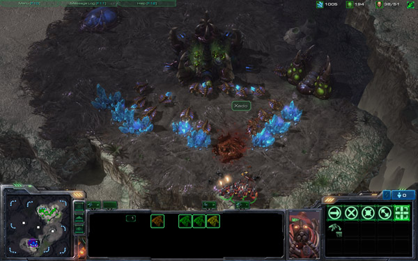A Reaper attack on a Zerg supply line.