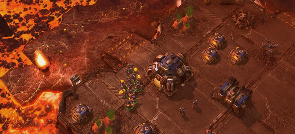 Starcraft II &quot;rising lava&quot; mission - come on, this is just <strong>cool</strong>.