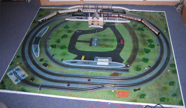 Layout on Hornby TrakMat